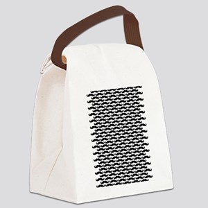 Mustache pattern Canvas Lunch Bag