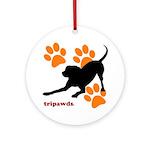 Tripawds Three Legged Dog Ornament (Round)