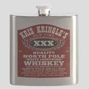 Christmas North Pole Distillery Moonshine Pa Flask