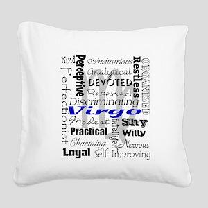 Virgo Square Canvas Pillow