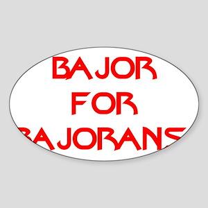 Bajor for Bajorans Sticker (Oval)