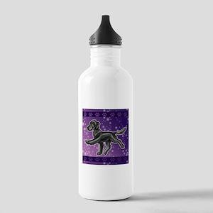 Flat Coated Retriever Night Sky Water Bottle
