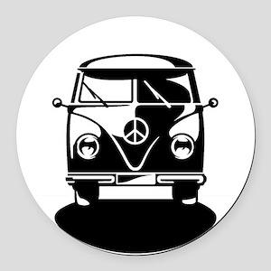 T1 Bus - Bullirider (only) Round Car Magnet