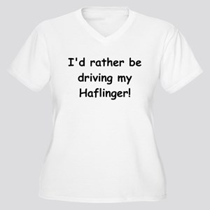 Driving my Haflinger Women's Plus Size V-Neck T-Sh