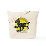Flat Coated Retriever Illustration Tote Bag