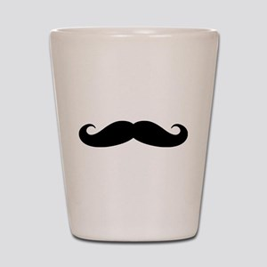 Funny black handlebar mustache Shot Glass