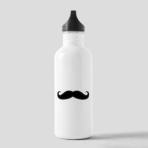 Funny black handlebar mustache Water Bottle