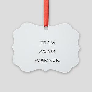 Team Adam Warner Picture Ornament