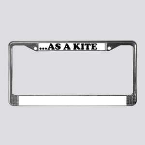 High Kite License Plate Frame