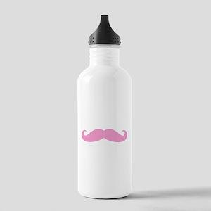 Funny pink handlebar mustache Water Bottle