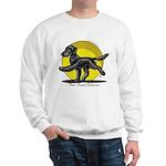 Flat Coated Retriever Illustration Sweatshirt