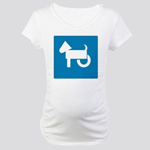 Wheelchair Dog Maternity T-Shirt