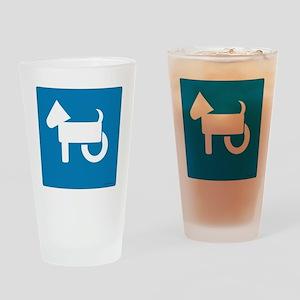 Wheelchair Dog Drinking Glass