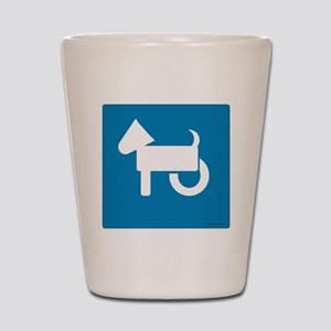 Wheelchair Dog Shot Glass