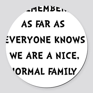 Normal Family Round Car Magnet