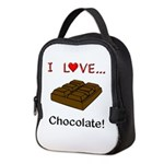 I Love Chocolate Neoprene Lunch Bag