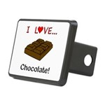 I Love Chocolate Rectangular Hitch Cover