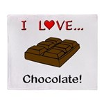 I Love Chocolate Throw Blanket