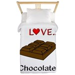 I Love Chocolate Twin Duvet