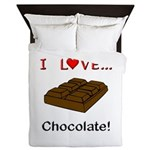 I Love Chocolate Queen Duvet