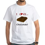 I Love Chocolate White T-Shirt