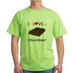 I Love Chocolate Green T-Shirt