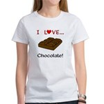 I Love Chocolate Women's T-Shirt