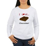 I Love Chocolate Women's Long Sleeve T-Shirt