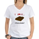 I Love Chocolate Women's V-Neck T-Shirt