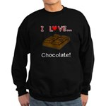 I Love Chocolate Sweatshirt (dark)