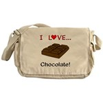 I Love Chocolate Messenger Bag