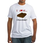 I Love Chocolate Fitted T-Shirt