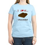I Love Chocolate Women's Light T-Shirt