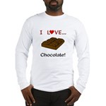 I Love Chocolate Long Sleeve T-Shirt