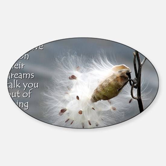 milkweed - Vibe Shifting Calendar Sticker (Oval)