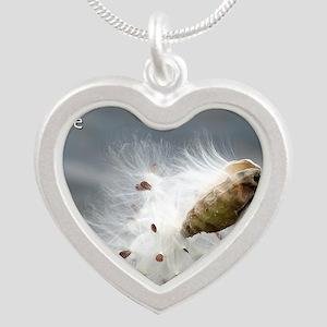 milkweed - Vibe Shifting Cal Silver Heart Necklace