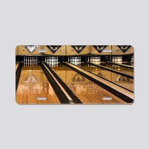 The Bowling Alley Aluminum License Plate