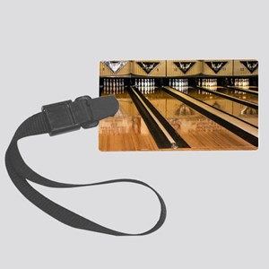 The Bowling Alley Large Luggage Tag