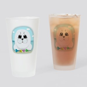 baby-Seal-(txt) Drinking Glass