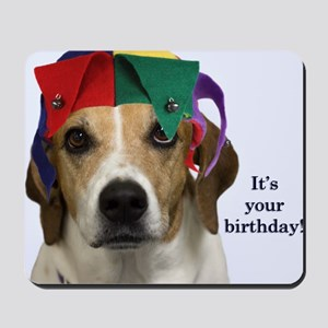 Beagle Birthday Card Mousepad