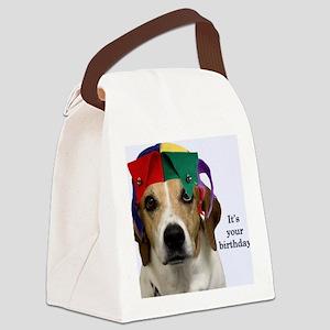 Beagle Birthday Card Canvas Lunch Bag