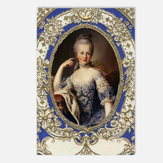 Marie Antoinette in vinta Postcards (Package of 8)