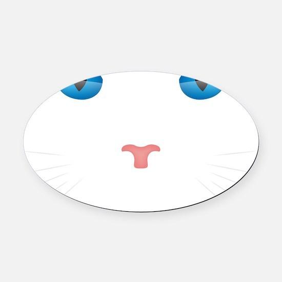Cat Face Oval Car Magnet