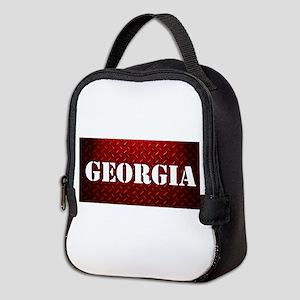 Georgia Diamond Plate Design Neoprene Lunch Bag