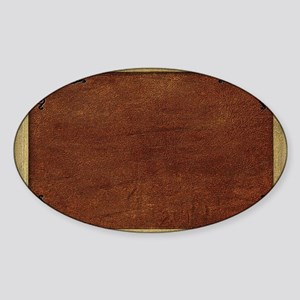 Western Rug 12 Sticker (Oval)