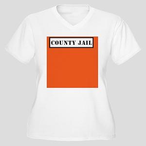 Inmate Costume Women's Plus Size V-Neck T-Shirt