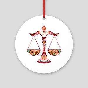 Libra Round Ornament
