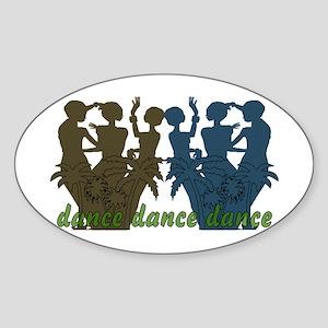 Dance Dance Dance Oval Sticker