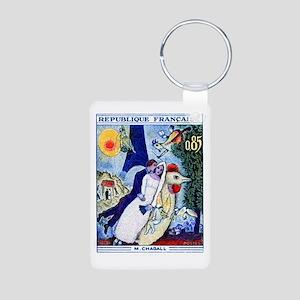 1963 France Les Fiancees C Aluminum Photo Keychain