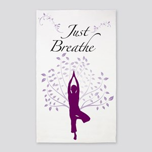 Just Breathe Wall Decal 3'x5' Area Rug